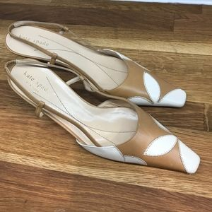 Kate Spade New York Brown and tan Slingbacks Heels